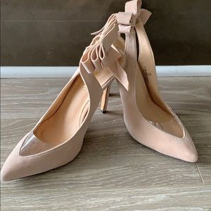 Liliana Velvet Pump with Bow (Nude or Black)
